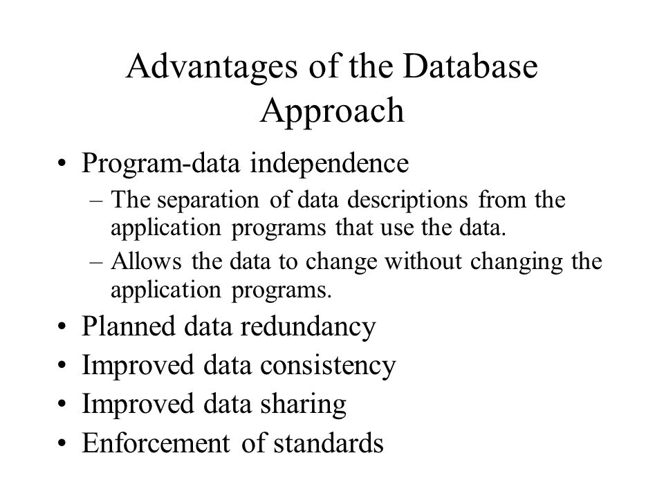 What Are the Advantages of a Database Approach