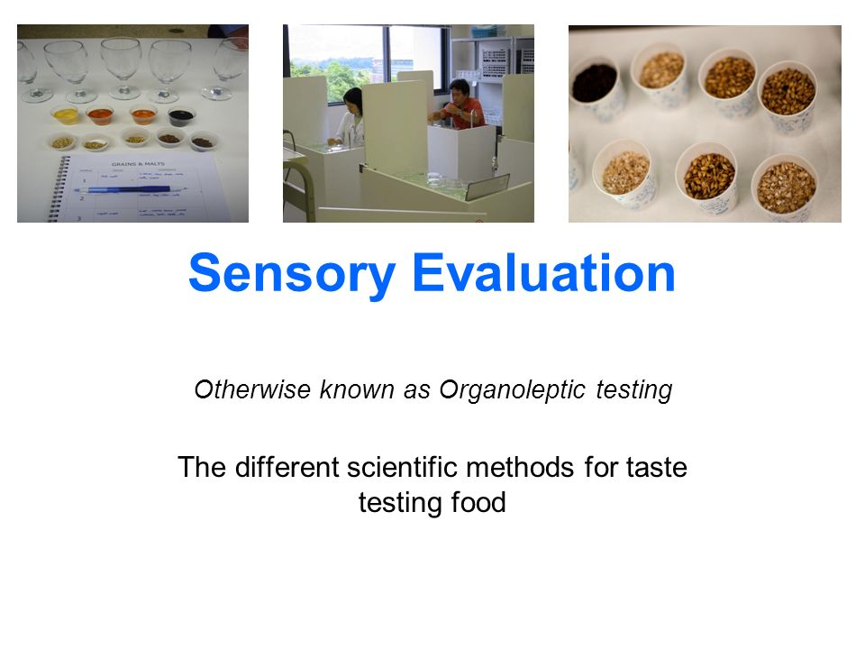 sensory evaluation This book is a practical guide to sensory evaluation methods andtechniques, explaining the suitability of different testing methodsfor different situations and offering step-by-step instructions onhow to perform the various types of test.