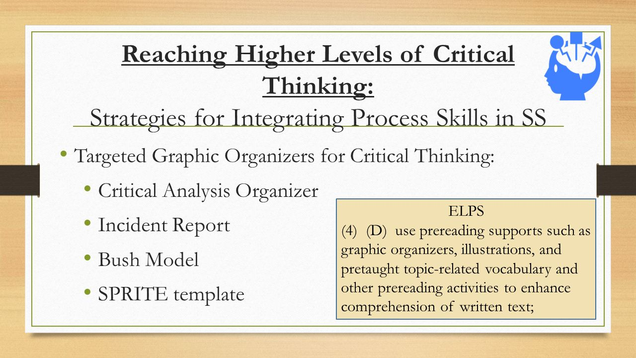 3 levels of critical thinking This taxonomy contained three overlapping domains: the cognitive, psychomotor, and affective within the cognitive domain, he identified six levels: knowledge, comprehension, application, analysis, synthesis, and evaluation these domains and levels are still useful today as you develop the critical thinking skills of your.