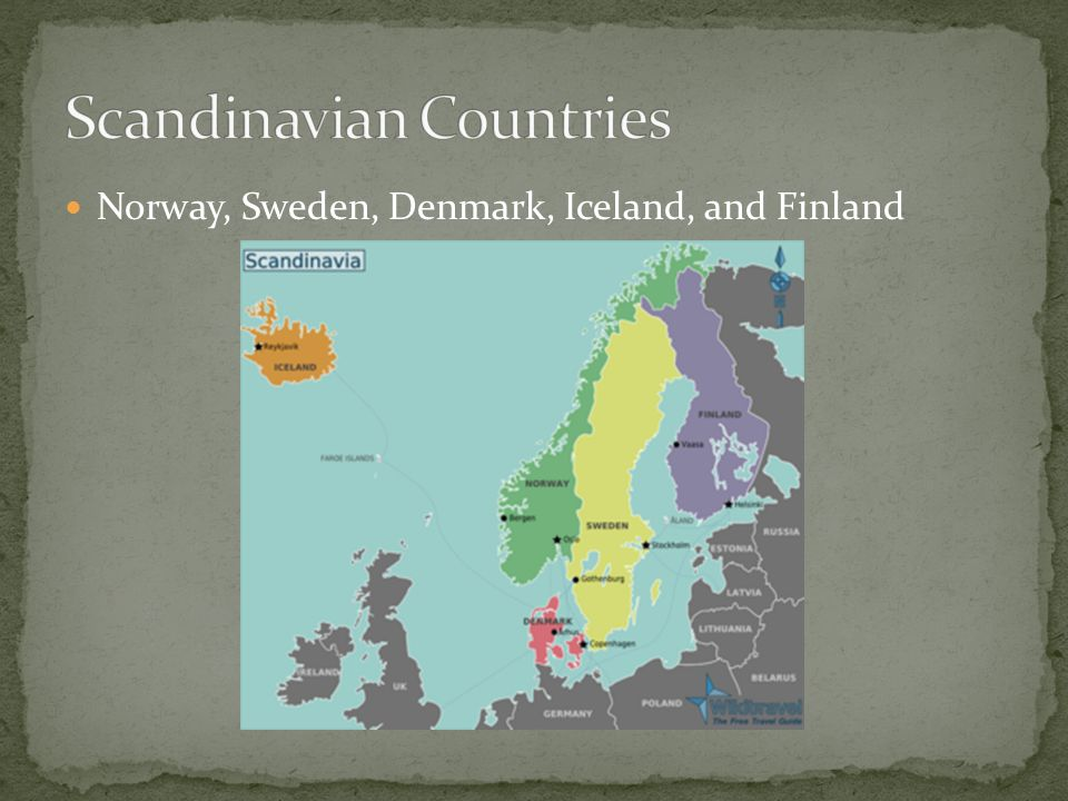 Scandinavia Norway Sweden Denmark Iceland And Finland