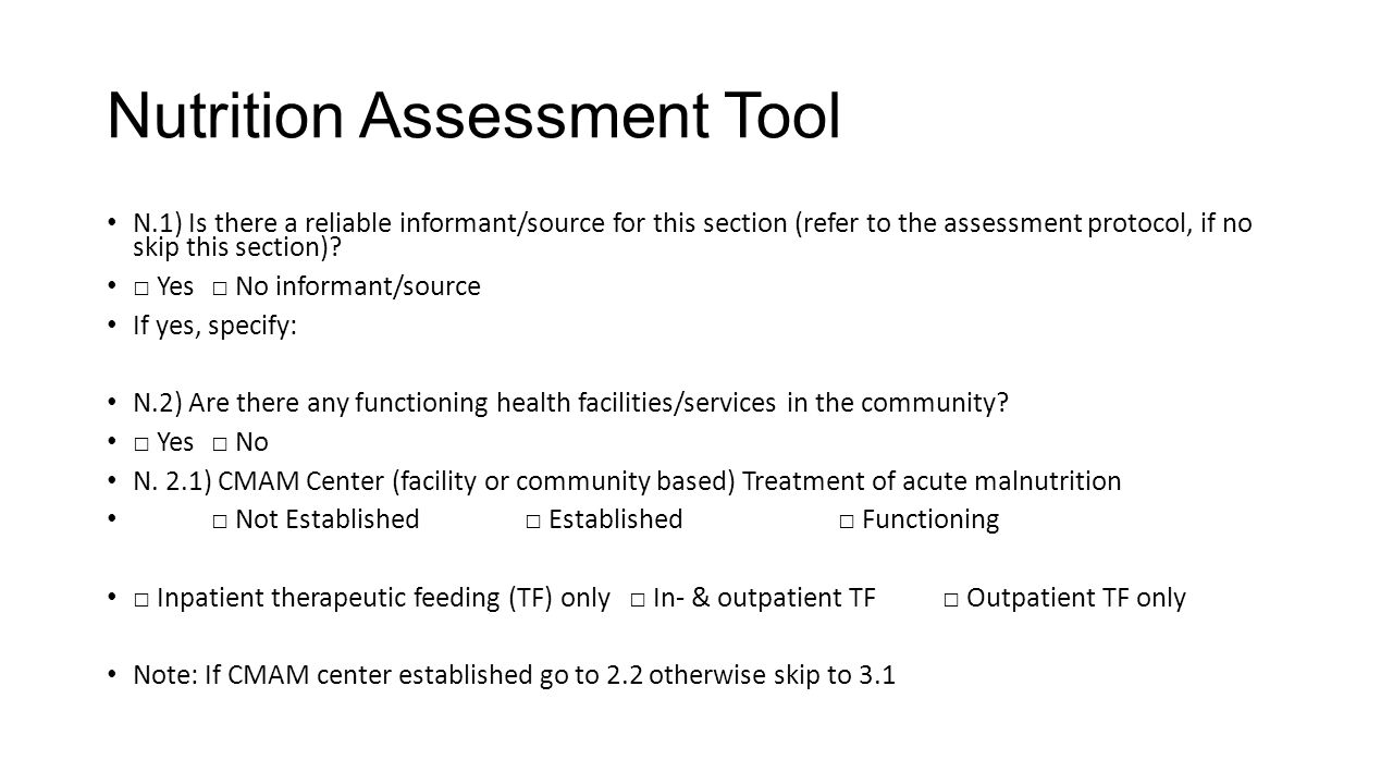 Facility Assessment Services : Nutrition sector coordination ppt download