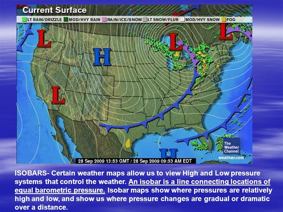 Weather Weather Maps And Forecasting Ppt Video Online Download - Pressure map us