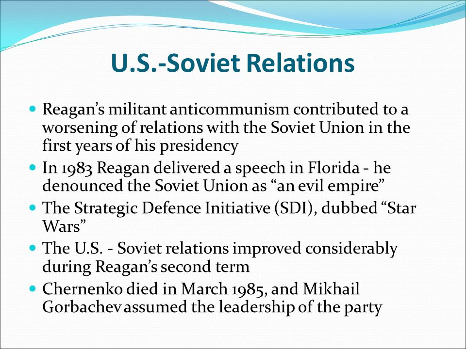 us and soviet union relationship