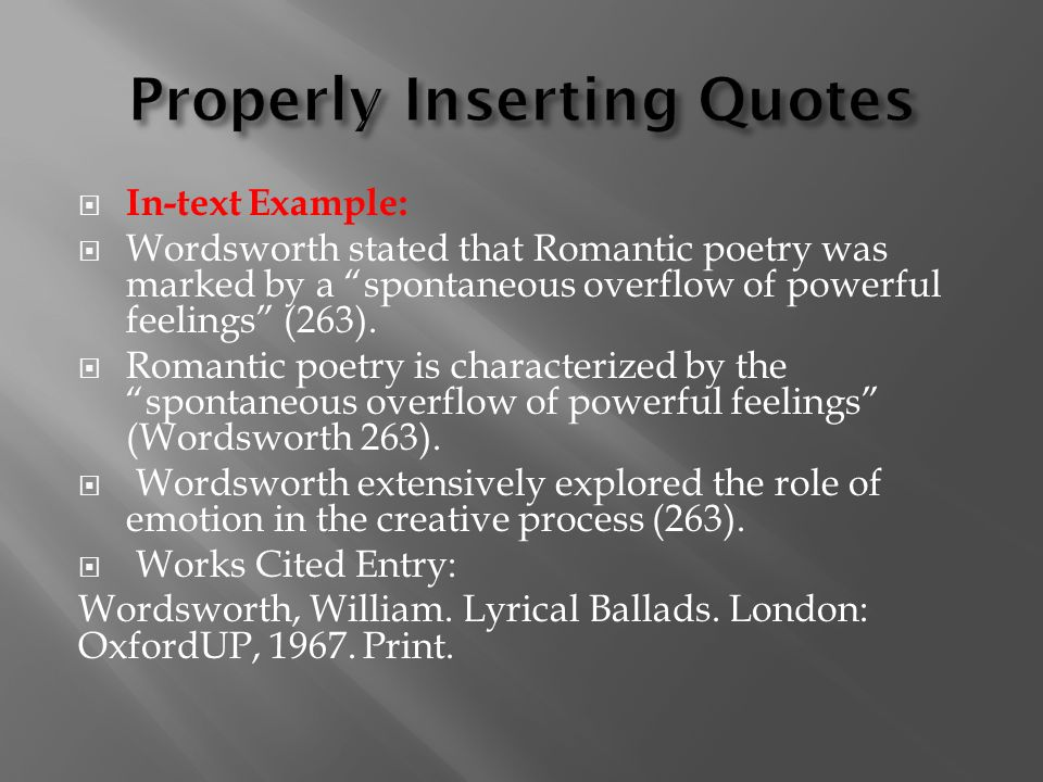 a literary analysis of the lyrical ballads by william wordsworth A short william wordsworth biography describes william wordsworth's life, times, and work also explains the historical and literary context that influenced wordsworth's poetry.