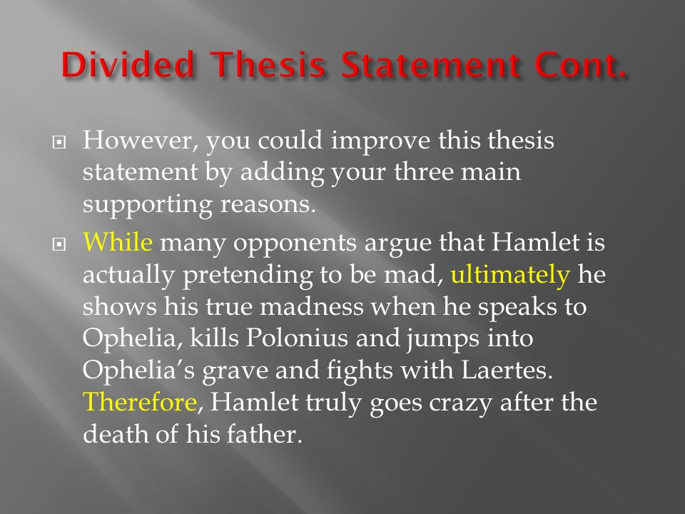 thesis for hamlet paper