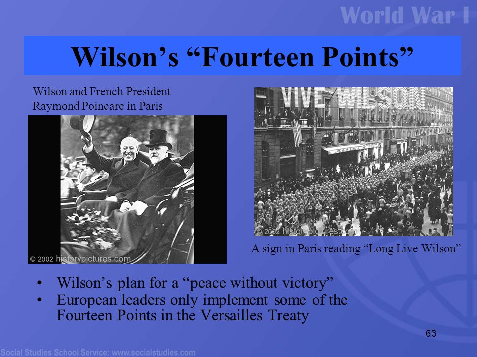 an essay on the fourteen points and the treaty of versailles the fall of germany The fourteen points treaty of versailles viewing germany as the efforts of the western european powers to marginalize germany through the versailles treaty.