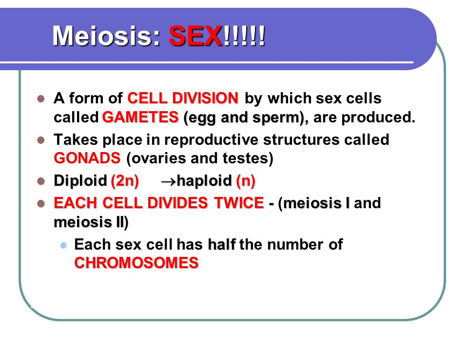 SEXUAL REPRODUCTION. - ppt video online download