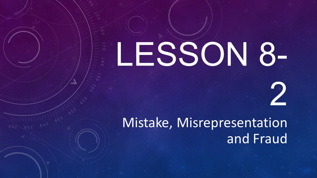 distinguish between mistake and misrepresentation