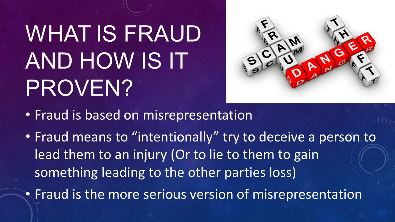 damages and actual loss of fraudulent misrepresentation Damages - for torts - fraud and misrepresentation - pure economic loss thursday, october 06, 2016 @ 8:00 pm.