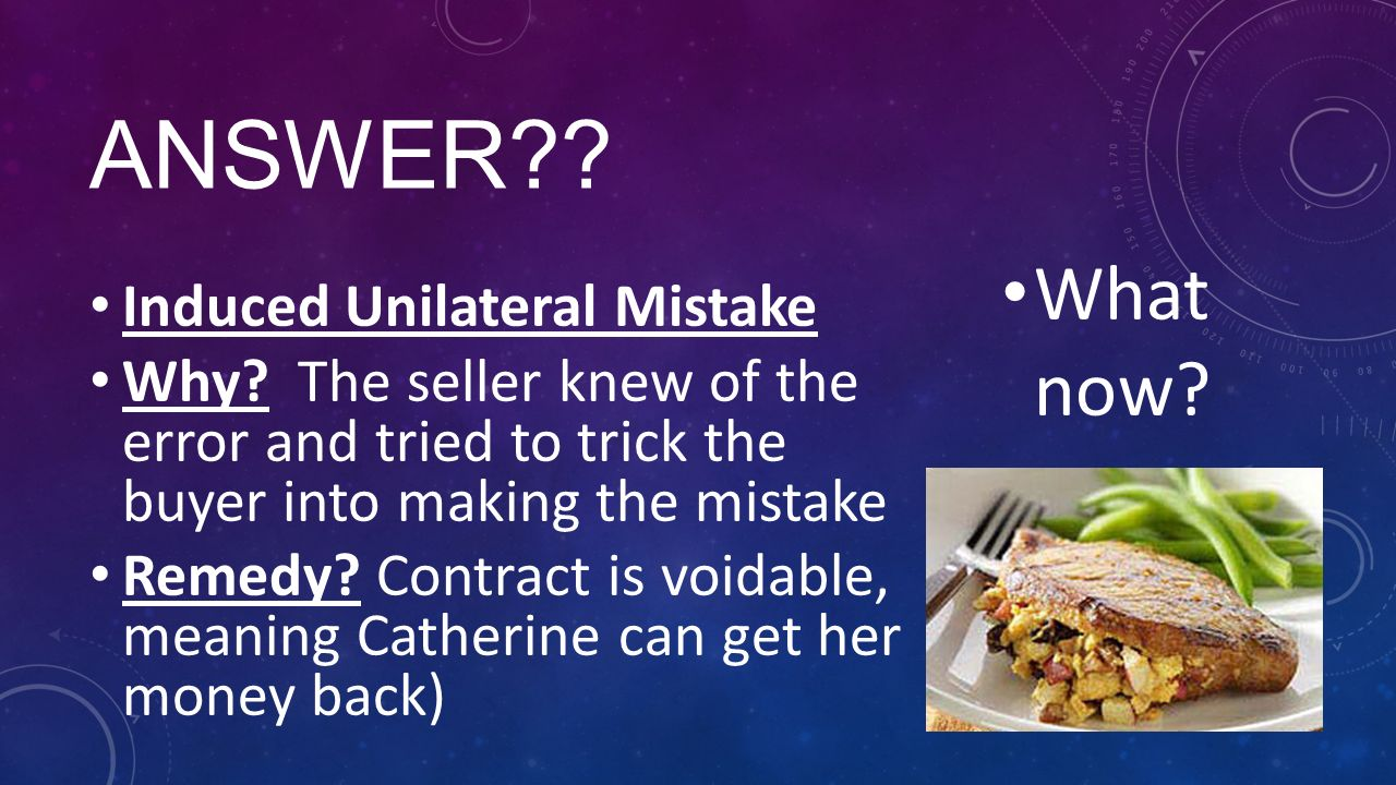 mutual mistake in contract law A contract cannot be void due to a common mistake where the risk of an assumption failing has been allocated to one of the parties under the contract, or where.