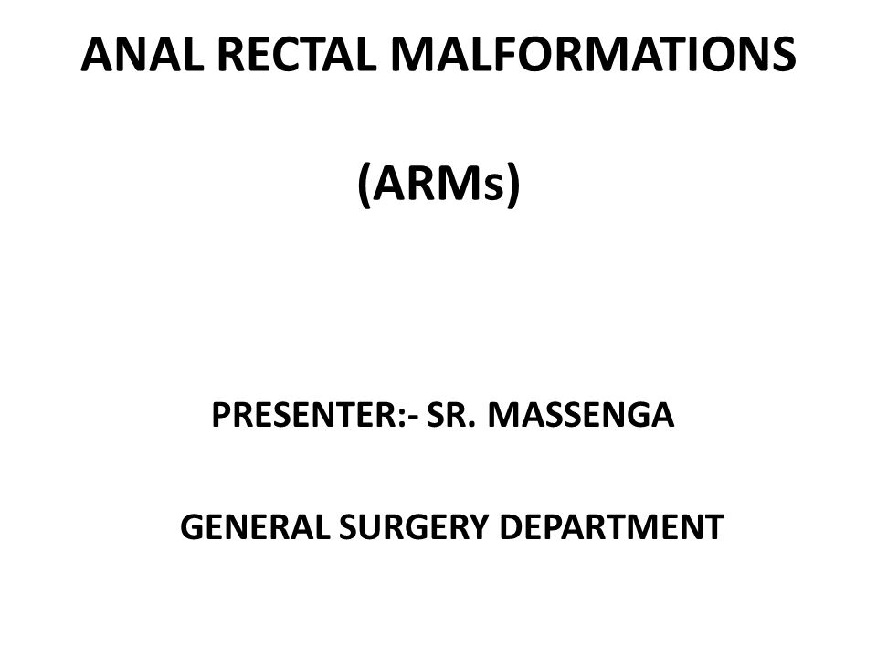 Anal Malformation 117