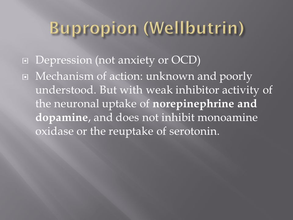 Wellbutrin Reviews For Ocd