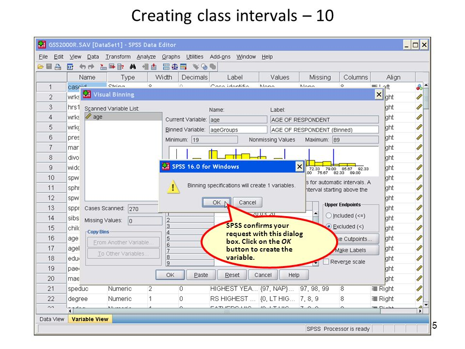 how to create class intervals in excel
