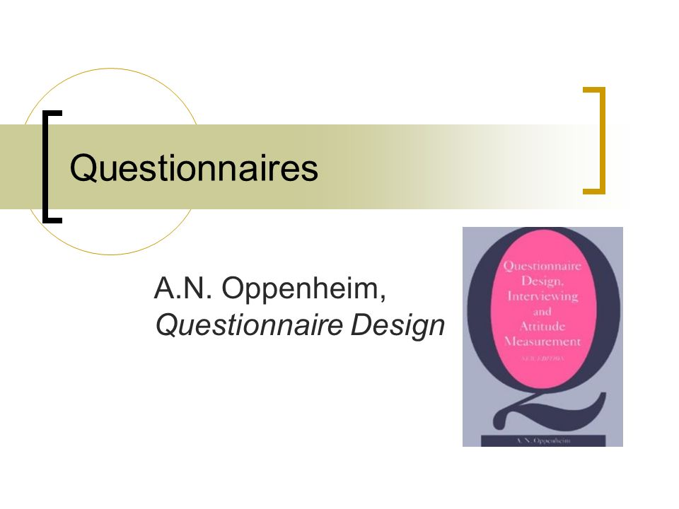 thesis questionnaire design