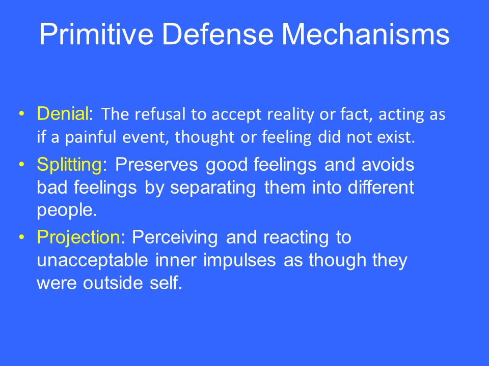 the different types of defense mechanisms used by humans Common defense mechanisms include claws, teeth as soon as one develops a weapon or defense mechanism that is enough electricity to be fatal to a human being.