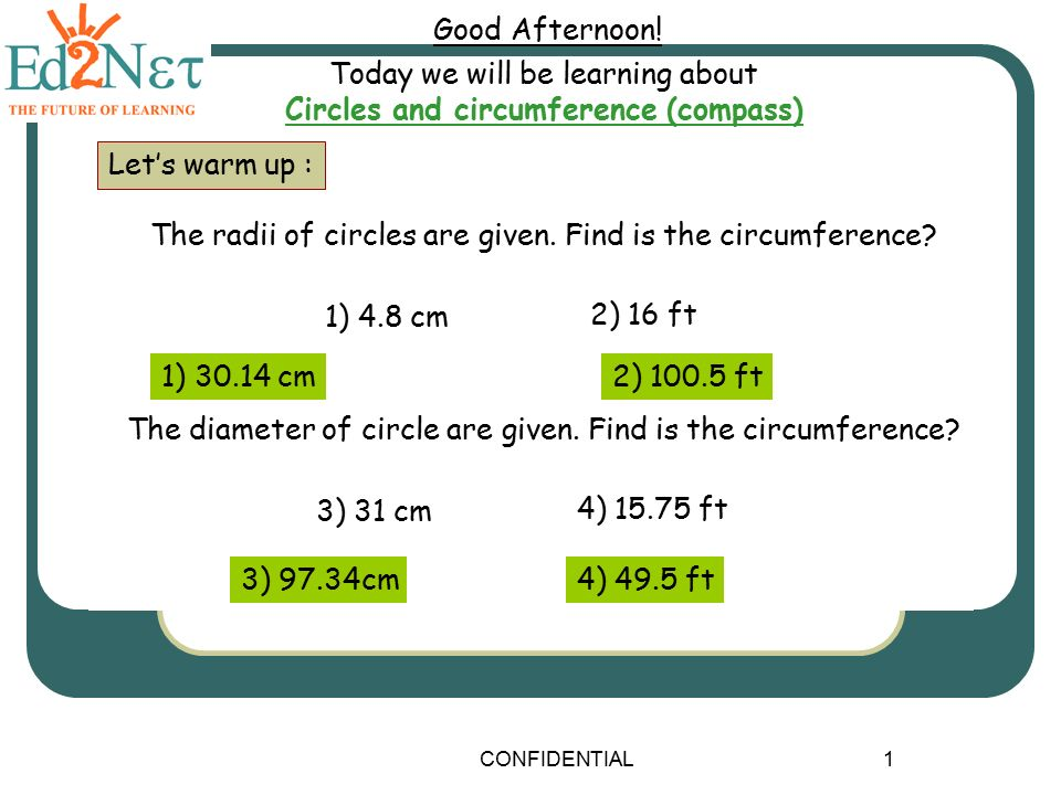 Circles And Cir Ference Comp