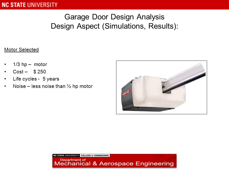 Garage door design analysis ppt video online download for Garage designer online free
