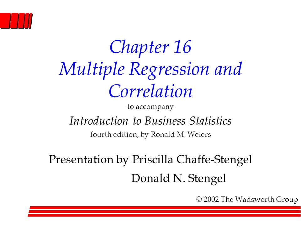 an experiment with multiple regression and correlation Simple regression analysis while correlation analysis multiple regression analysis uses a many times historical data is used in multiple regression in an.