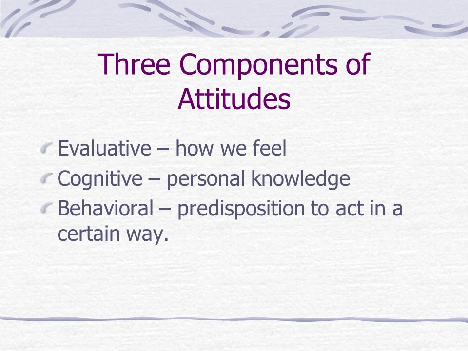 3 component of attitudes Public opinion - components of public opinion: attitudes and values: how many people actually form opinions on a given issue, as well as what sorts of opinions they.