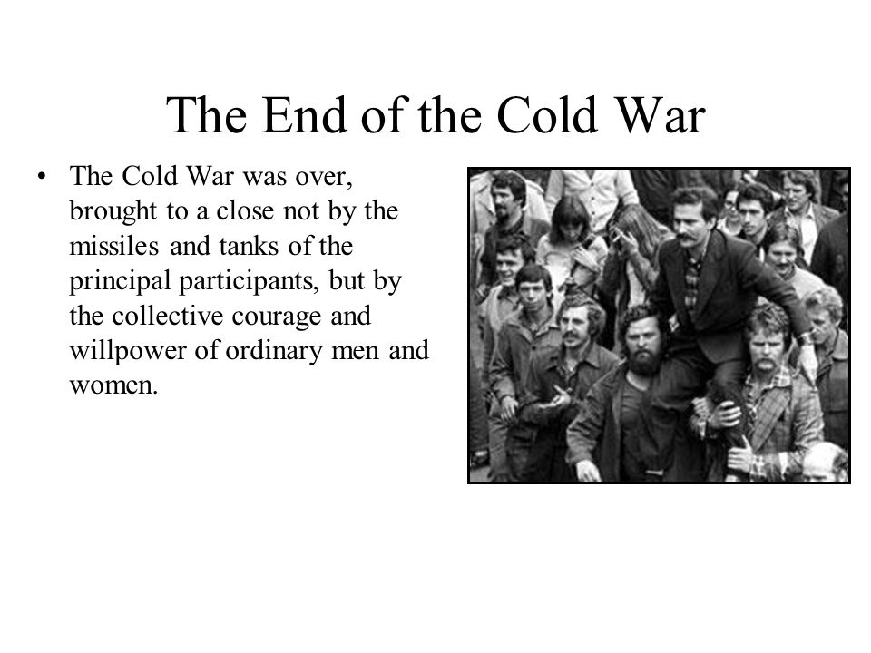 Analysis of the Cold War