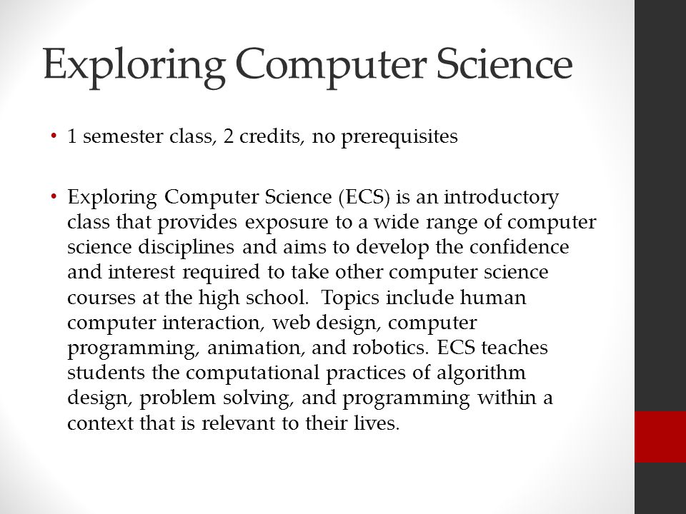 Computer Science Is To Biology What Calc By Harold: Course Registration In The New Semester Schedule At ARHS