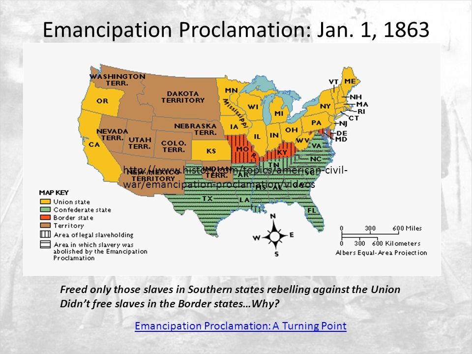 emancipation proclamation as a tipping point The emancipation proclamation was written throughout the year 1862, but wasn't published until january 1, 1863 lincoln wrote it as a final effort to end the war, not because he was against slavery.