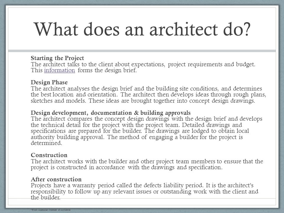 Architecture Design Brief information architecture - ppt video online download