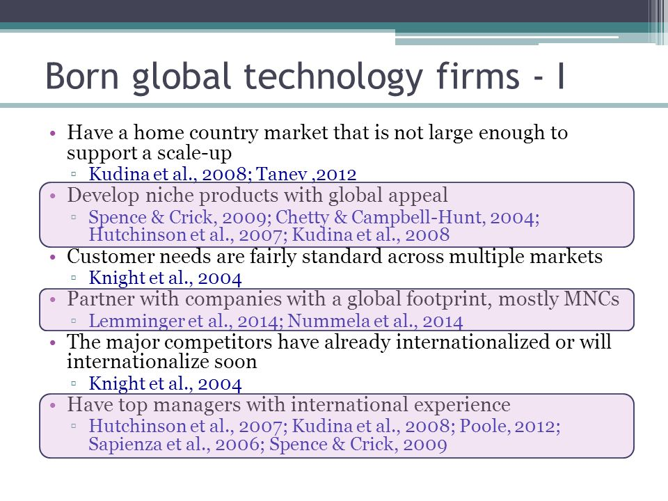 chetty campbell hunt born globals Even if a firm is born global, its further internationalization may well be incremental in nature  chetty, s, campbell-hunt c (2004) astrategic approach to .