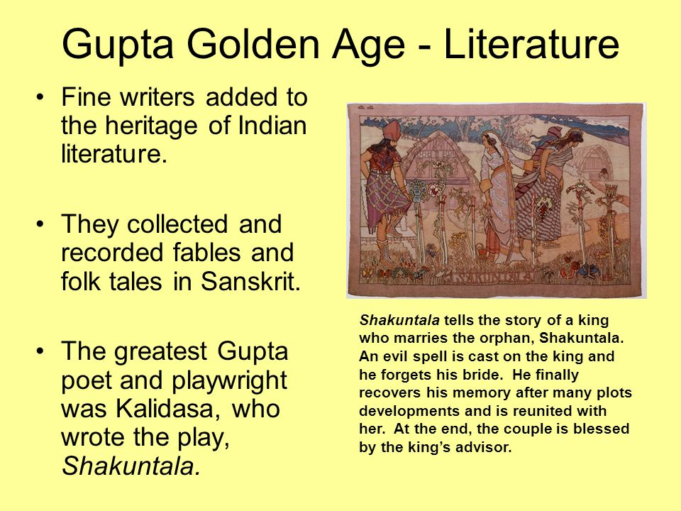 gupta empire and golden age The gupta empire, which ruled the indian subcontinent from 320 to 550 ad,  ushered in a golden age of indian civilization it will forever be remembered as  the.