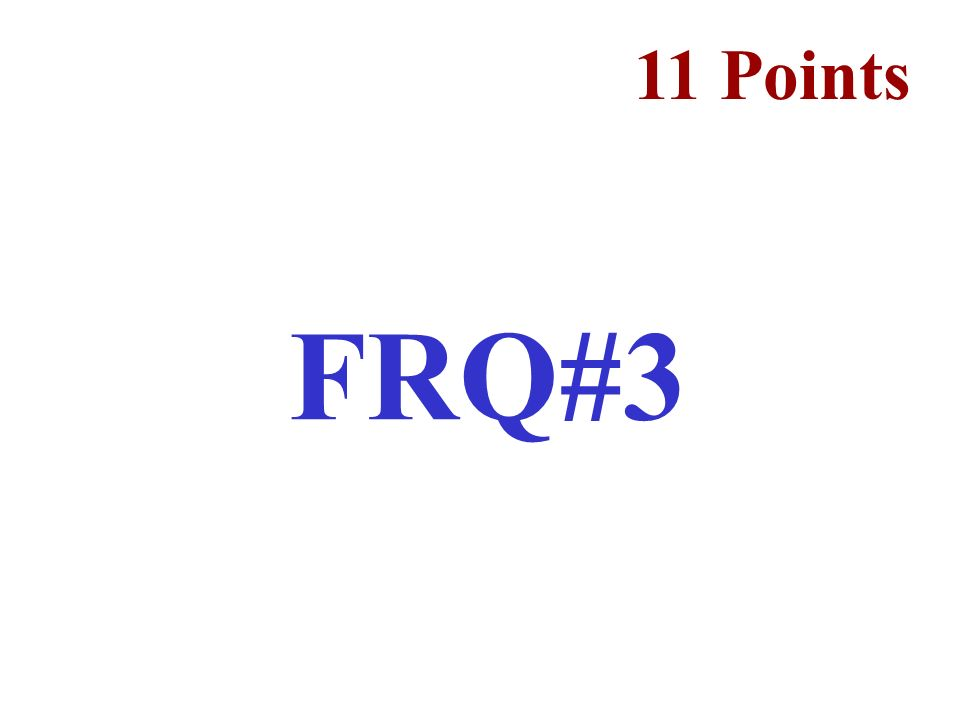 11 Points FRQ#3
