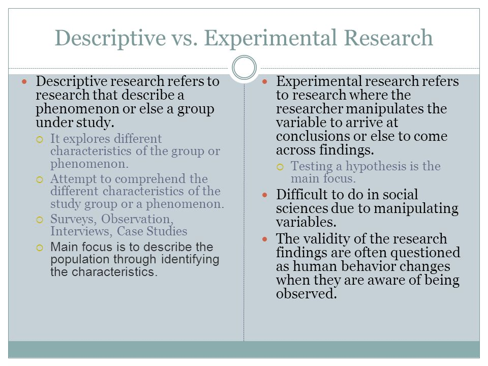 descriptive research question Module 2: research design way to increase the chances of collecting the information needed to answer a particular question descriptive and.