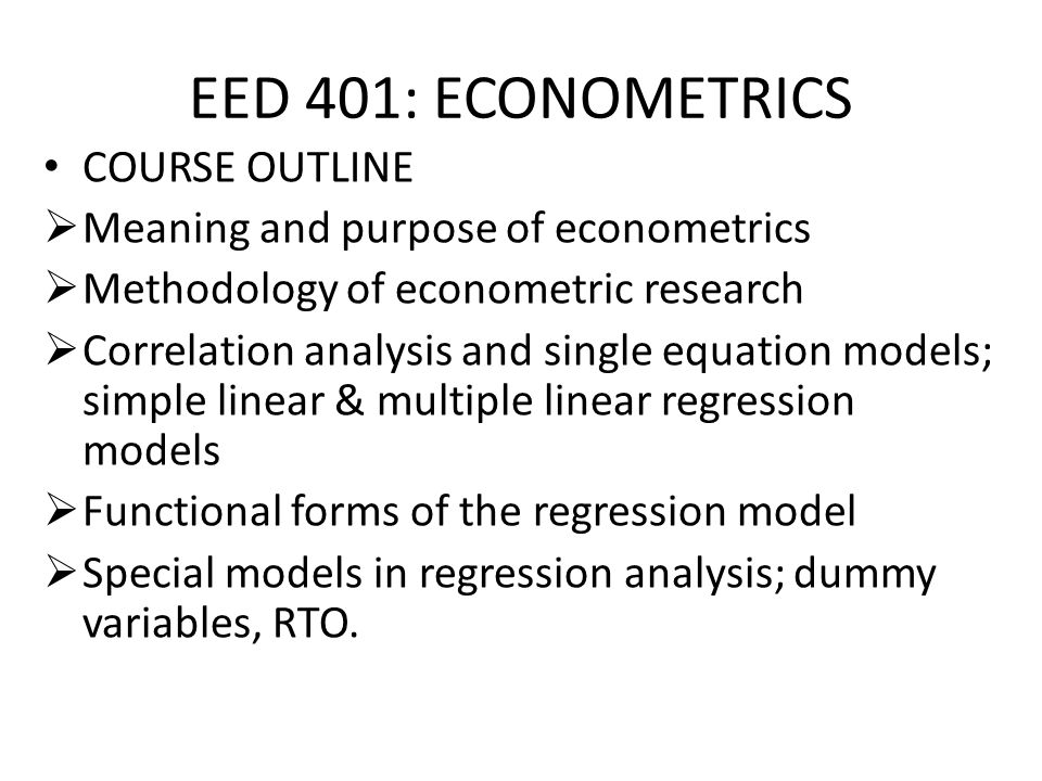 Econometric Books
