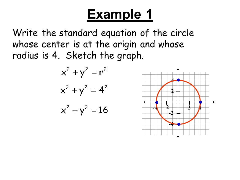 Circles Objectives Write An Equation For A Circle Given Sufficient
