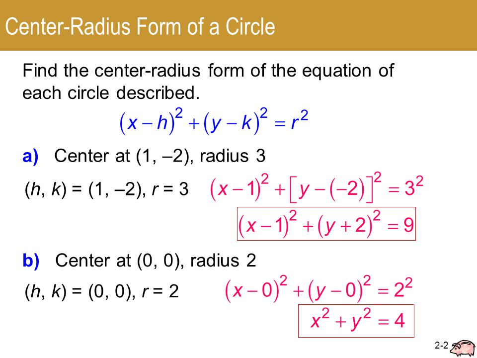 2.2 Circles Center-Radius Form □ General Form. - ppt video online ...