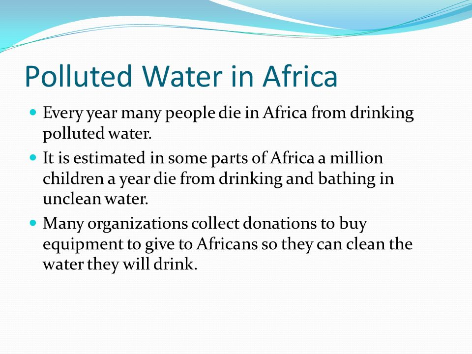 Polluted Water in Africa