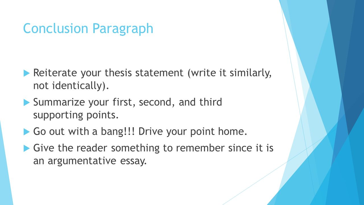 Thesis driven essay conclusion custom paper service khcourseworkhlvq