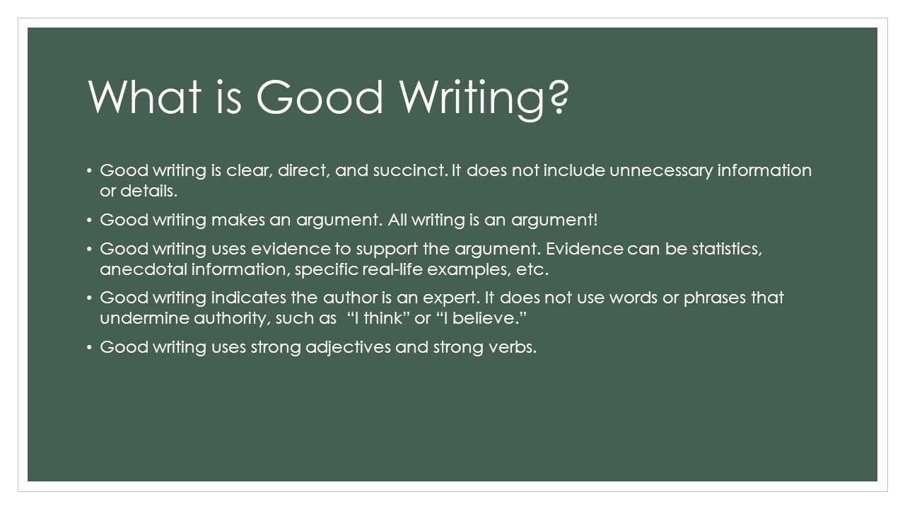 what is good writing an introduction to good writing paragraph what is good writing good writing is clear direct and succinct it does