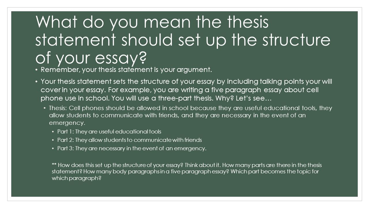 what do you write in a thesis statement How to write a thesis statement when writing the thesis statement, you must utilize your own words do not use quotes if you devise a unique.