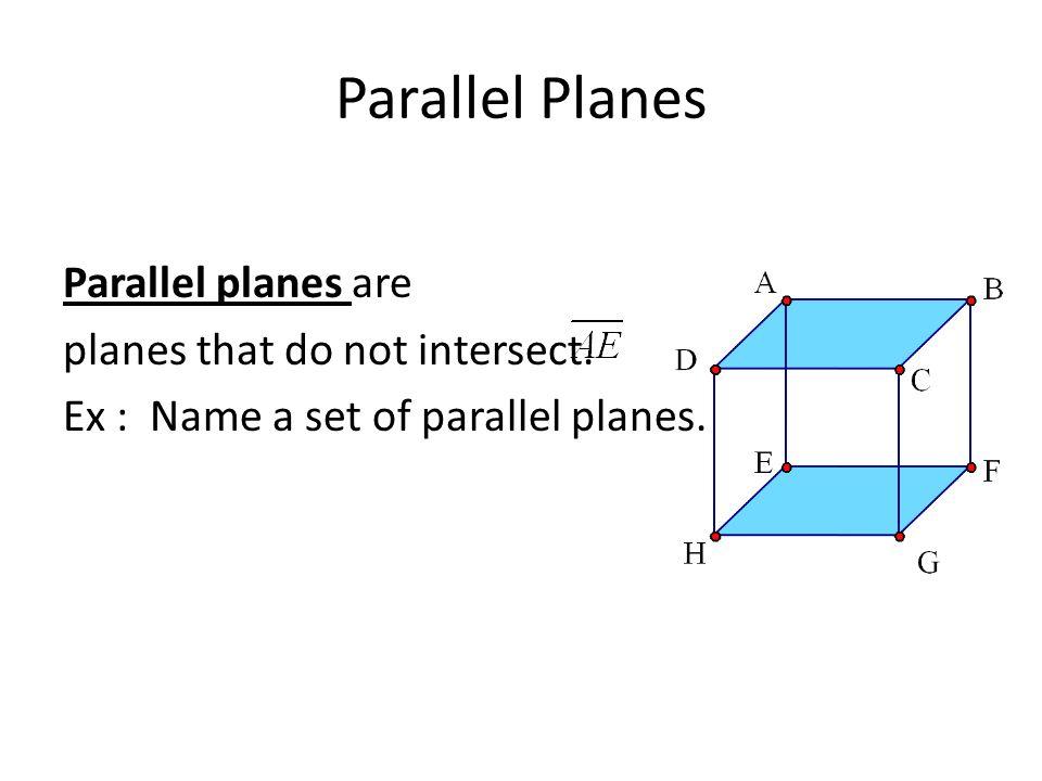 parallel planes. 4 parallel planes