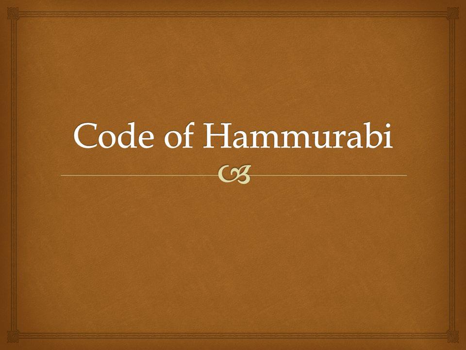 hammurabli s code research