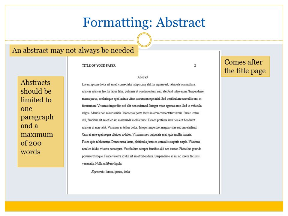 Essay Writing Examples English Asa Format And Citation  Ppt Video Online Download Thesis Statement In A Narrative Essay also Proposal Essay Examples Abstract Format Image Titled Write An Abstract In Apa Step  How  Essays On The Yellow Wallpaper