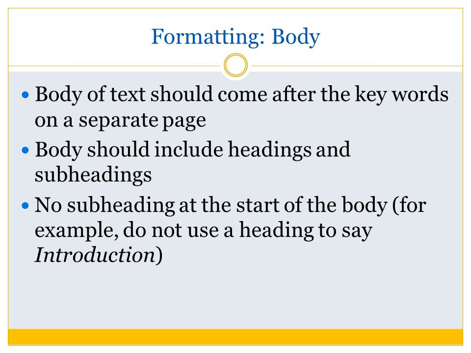 asa formatting Explains the need for consistent, uniform style in scientific writing and how apa style addresses that need.