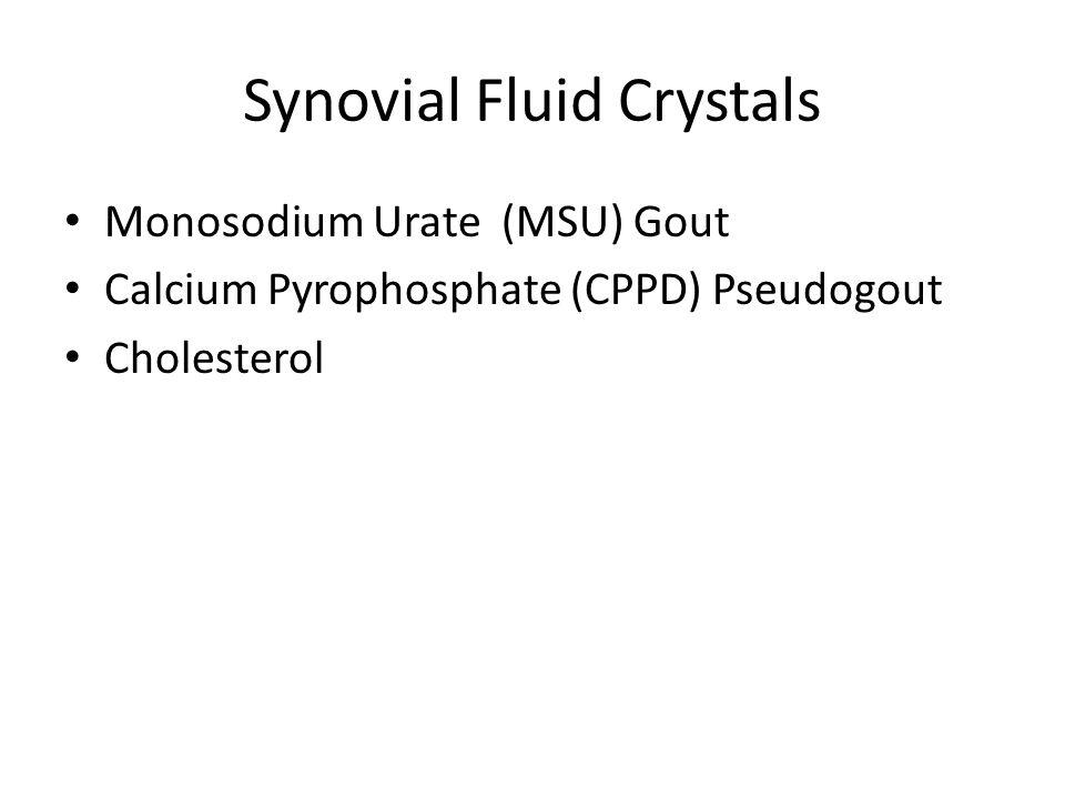 Synovial Fluid Crystals