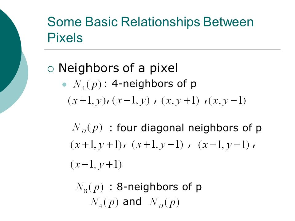 explain the basic relationship between pixels
