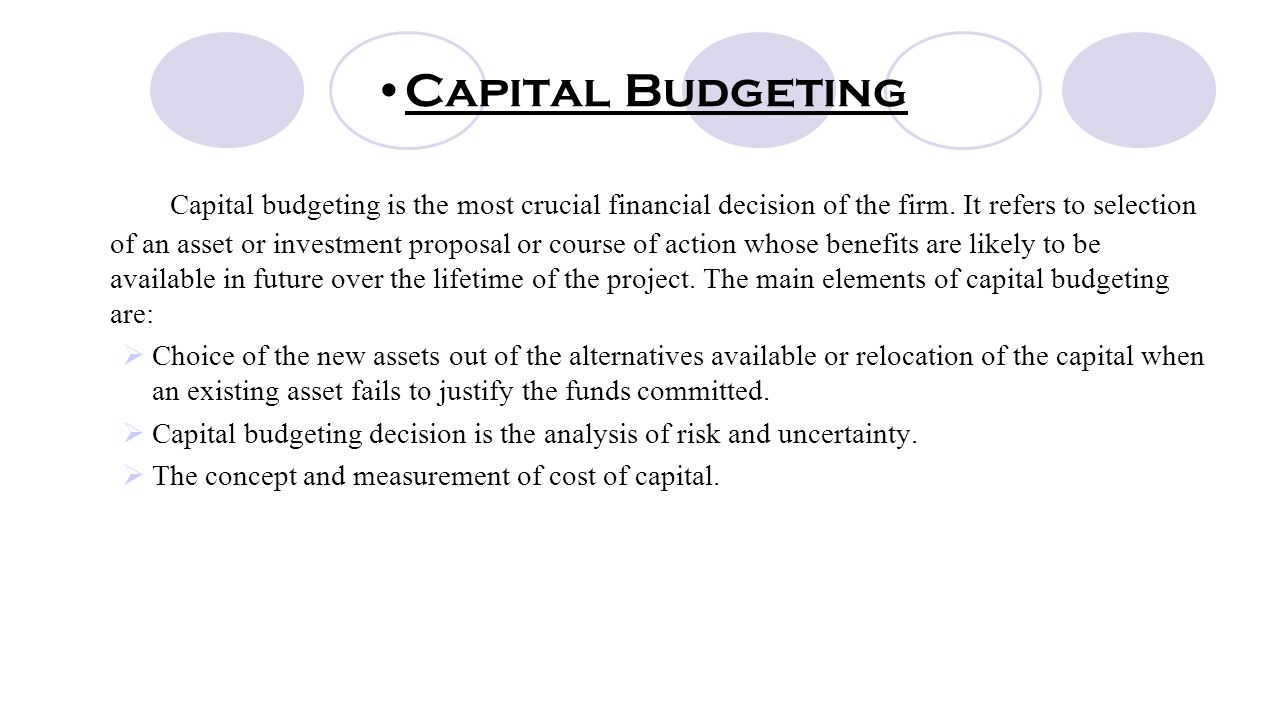 capital budgeting research proposals Capital budgeting project proposal overview of the industry brief introduction of capital budgeting research design analysis of the calculation of the weighted.