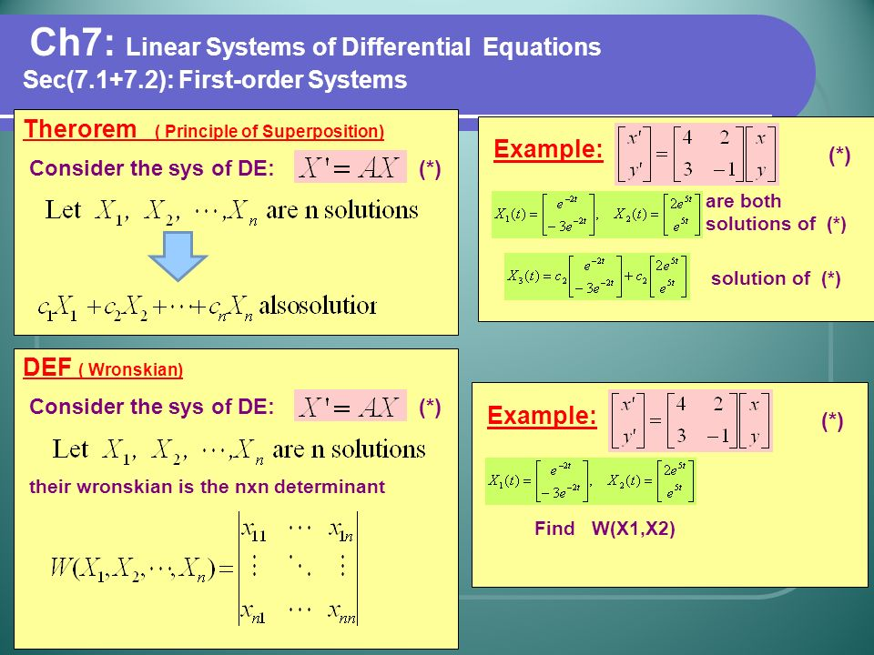 how to solve first order linear differential equations