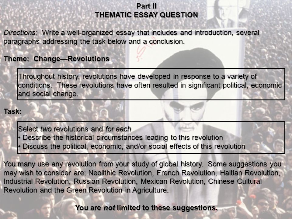 an revolution essay file incendie de la plaine du cap  change revolutions the ian revolution ppt video online thematic essay question you are not limited to