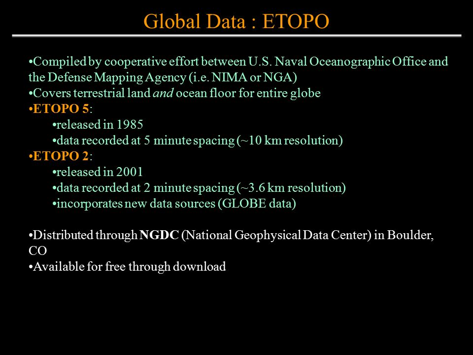 Elevation Data Sources Ppt Video Online Download - Us defense mapping agency
