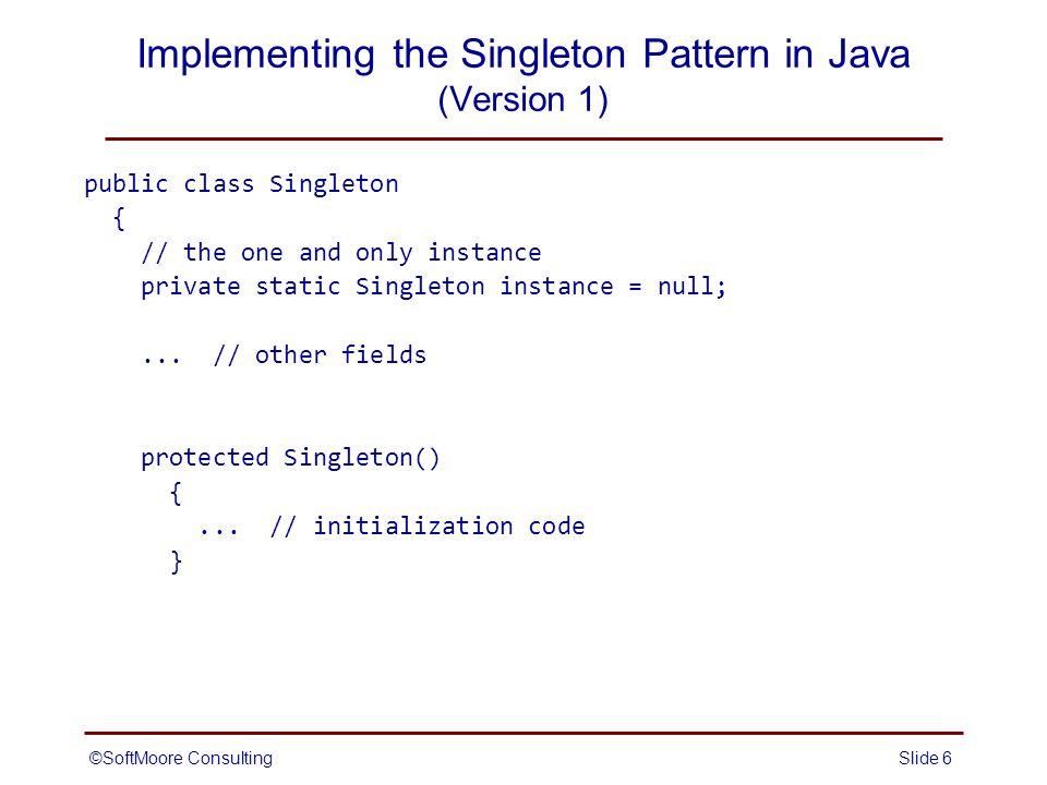 singleton pattern java