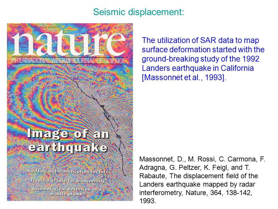 Seismic displacement: